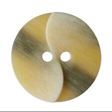 6pc 20mm brown faux leather swirl twist effet manteau cardigan enfants bouton 2648