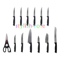 Stainless Steel Steak Knives Set of 13 Sharp Blades Durable Kitchen Cutlery Tool
