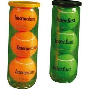 Central Low Compression Tennis Balls - Pack of 6 - Orange Mini, Mid Green - New
