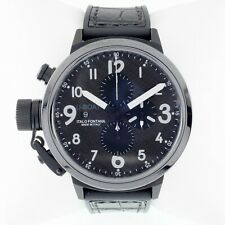 U-Boat Flightdeck Men's Automatic Chronograph Watch w/ Carbon Dial 7750/50mm