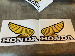 """Honda Wing Fuel Tank Decal Perforated for Plastic Tanks 5"""" Sticker CR125 CR250 R"""