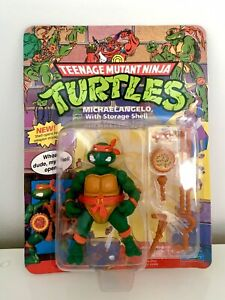 Teenage Mutant Ninja Turtles Michelangelo With Storage Shell MOC Unpunched MISB