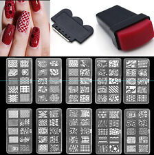 Set Nail Art Stamp Stamper Tips Stencil Image Stamping Template Plate+Seal