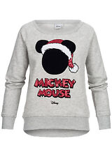 50% OFF SSWCOESCAPE-HI Damen Tally Weijl Pullover Pailletten Mickey Mouse grau