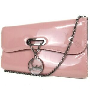 Authentic Christian Louboutin Chain strap Shoulder Bag Patent leather[Used]