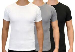 Men's Stretch Slim Fit Short Sleeve Ribbed Crew Neck T-Shirts, BNWT