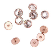 ROSE GOLD STEEL 14G 4MM FLAT CZ GEM INTERNALLY THREADED DERMAL ANCHOR TOP HEADS