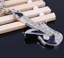 FD1146 Rhinestone Music Note Guitar Metal Keychain Keyring Keyfob Key Ring 1pc