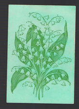 Playing  Cards 1 ANTIQUE SQ  CORNER  SPRAY OF LILY OF THE VALLEY FLOWERS  SQ30