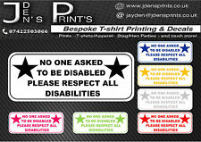 AUTISM ADOS ASD PDD WALL  DISABLED DISABILITIES CAR WINDOW STICKER VAN FREE P+P