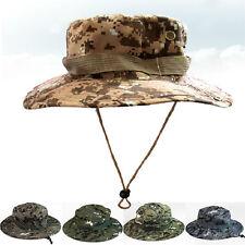 Uomo Esercito Camo Escursioni Pesca Boonie Con Falda Militare Sacca