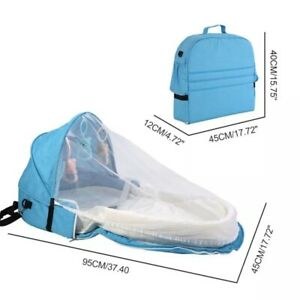 Portable Travel Baby Bed Multi-Function Foldable Infant Sleeping Nest With Net