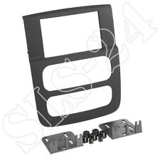 Doppel 2-DIN RB Blende KFZ Halterung für Dodge RAM 2002-2006 Radioblende schwarz