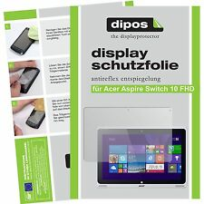 2x dipos Acer Aspire Switch 10 FHD matt Displayschutzfolie Antireflex Testsieger