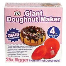 Big Jumbo Giant Donut Doughnut Cake Maker Silicone Mould Xmas Present Fun