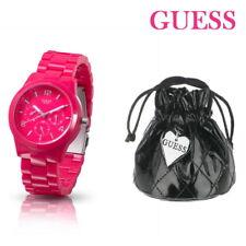 GUESS Damenuhr Armbanduhr Damen Pink Kunststoff Uhr W11603L4  UVP 159,- €€€ TOP
