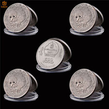 5Pcs Asian Mongolian Wildlife Spiny Anteater Silver Bronze Commemorative Coin