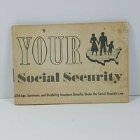 1960s Social Security Pamphlet Vintage Government Printing Office
