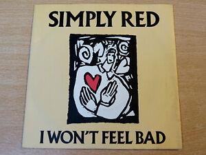 "EX- !! Simply Red/I Wont Feel Bad/1988 Elektra 7"" Single"