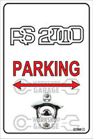 Pop A Top - Wall Mount Bottle Opener Metal Sign - FORD RS2000 Logo