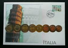 Italy Euro Coin 2002 Pisa Building Culture Currency Money FDC (coin cover)