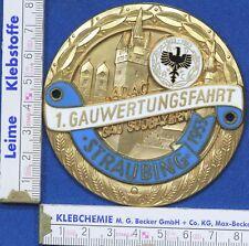 ADAC BADGE Plakette Oldtimer Gaufahrt Straubing  1953