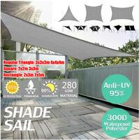 Sun Shade Sail Garden Patio Sunscreen Awning Canopy Shade 98%UV Block  D*//
