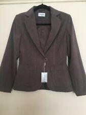 BNWOT Primark Size 8 Blazer Jacket Dark Taupe Natural Stone Colour Smart Casual