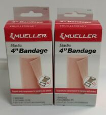 2/Pack - Mueller Elastic Bandage with 2 Securing Clips, 4 Inch