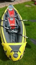 Intex Explorer K2 Kayak 2 Person Inflatable Canoe with Pump & 2 life vests-B/A's