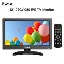 Eyoyo 12 Inch IPS HDMI TV Monitor Display TV/HDMI/VGA/AV/USB For PC Computer DVR