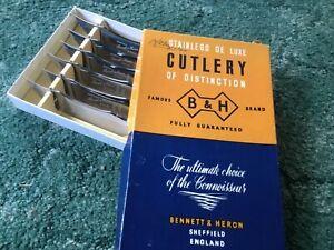 Vintage Bennett & Heron boxed 6 steak knives