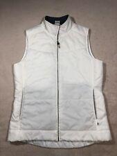 ALO YOGA White running vest puffer Sz Large  fitness athletic