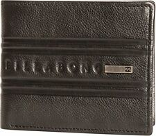 BILLABONG MENS WALLET.PHOENIX REAL LEATHER BLACK SNAP NOTE/COIN PURSE 7W W03 19