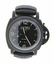 Panerai Luminor GMT 1950 10 Day DLC Stainless Steel Watch PAM270