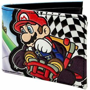 Official Super Mario Kart Racing Checkered Flag ID&Card Bi-Fold Wallet *SECOND*