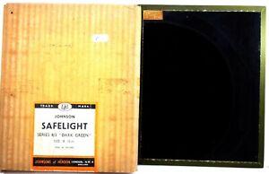 "41. Johnson Darkroom Safelight Filter - 8""x10"" -  Series 8/3  Dark Green"