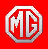 2 x MG Style CHROME logo badge car vinyl sticker decal  ZR ZT TF MGB
