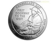 America the Beautiful ATB Cumberland Gap National kentucky 5 Oz plata EE. UU. 2016