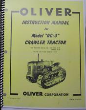 Instruction Manual Oliver Oc 3 Crawlers Loader Dozer Instruction Manual