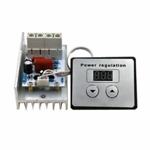 AC 220V 10000W SCR Voltage Regulator Speed Control Dimmer Thermostat Module Kit