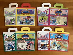 1987 Burger King Super Powers Meal Pack Boxes Complete Set
