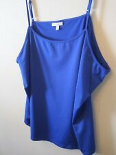 """Blue """"Camisole"""" by fashon Bug 4X Blue 92/8 Polyester/spandex"""