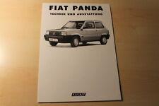 67427) Fiat Panda - technische Daten & Ausstattungen - Prospekt 08/1993