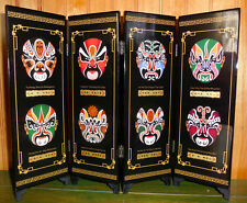 Chinese Mini Folding Screen Axe FACIAL MAKEUP PEKING OPERA Tabletop Desk