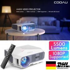 COOAU Projektor 3D Beamer 1080P LED Heimkino HDMI Cable 5500L Full HD Multimedia