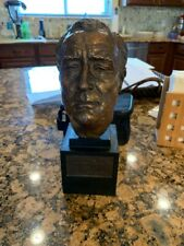 Franklin Delano Roosevelt Bronze Bust by J Davidson 1934 10 inches tall