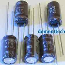 5x Nippon KYB 1200uF 6.3v Low-ESR long life radial capacitors caps 105C 8mm 8x15