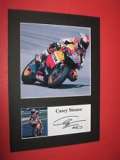 Casey Stoner A4 Foto Montaje de Impresión Firmada Autógrafo MotoGP Superbikes