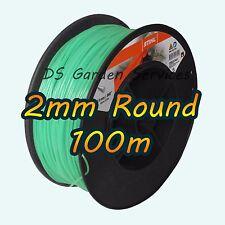 100m of Genuine STIHL 2mm ROUND Brushcutter Strimmer Trimmer Cord Line Wire